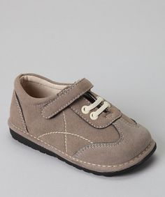 Take a look at this Taupe Gray Squeaker Sneaker by Squeak Me Shoes on #zulily today!