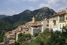 Sainte Agnes on the French Riviera Cote d'Azur, France. Sainte Agnes is the highest coastal village in Europe.