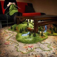 Des petits paysages magiques - La boite verte