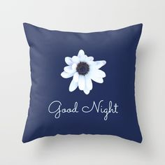 Buy Good Night, Sleepy African Daisy Flower Throw Pillow by annaki. Worldwide shipping available at Society6.com. Just one of millions of high quality products available.
