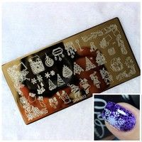 Cheap manicure templates, Buy Quality fashion templates directly from China stamping plates Suppliers: New Fashion Nail Art Image Christmas Xmas Holiday Stamp Stamping Plate Manicure Template Fashion Nail Art, Fashion Jewelry, Nail Art Vernis, Manicure, Solid Color Nails, Holiday Nail Art, Xmas Nail Art, Nail Art Stamping Plates, Nail Art Images
