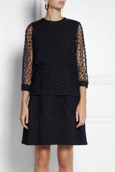 Chloé | Polka-dot tulle and crepe dress | NET-A-PORTER.COM