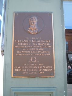in honour of Alexander Graham Bell, the Scottish - Canadian inventor. Alexander Graham Bell, Telephone Call, Canadian History, Historical Pictures, Ontario, Famous People, Canada, Paris