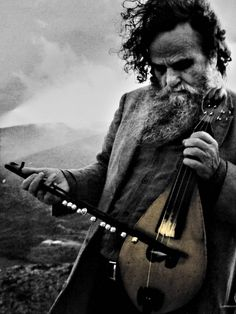 "hellas-inhabitants: "" Antonis Xylouris, nicknamed Psarantonis, is a Greek composer, singer and performer of lyra, the bowed string instrument of Crete and most popular surviving form of the medieval. Greek Men, Old Greek, Mykonos, Temple Ruins, Crete Island, Greek Language, Creta, Greek Music, Crete Greece"