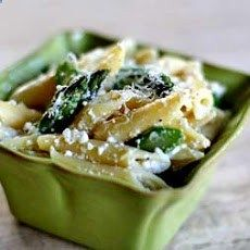 Penne with Ricotta and Asparagus Recipe