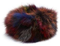 Adrienne Landau Multicolor Fox Fur Headband