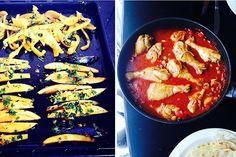 oosterse recepten, aubergine friet, friet van aubergine receptkopie