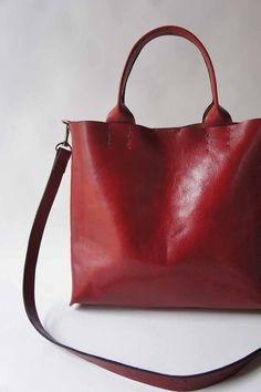The Stella Bag Italian Leather Red by stitchandtickle on Etsy, $325.00