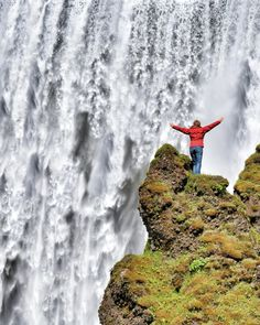 Woman at Waterfall by Dirk Vonten