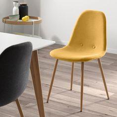 Hořčicově žlutá jídelní židle La Forma Lissy | Bonami Yellow Dining Chairs, Eames, Furniture, Home Decor, Decoration Home, Room Decor, Home Furnishings, Home Interior Design, Yellow Chairs