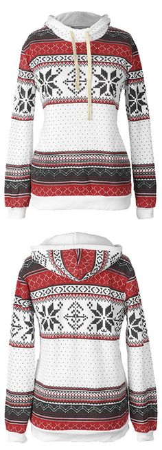 $19.99 for New Semester outfit! Easy Return + Refund! This hooded sweatshirt is calling your name! It's so soft and warm. Christmas printing and drawstring hooded design is the perfect combination for these dropping temps!Get it immediately at Cupshe.com !