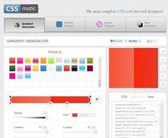 cssmatic – Herramientas CSS para diseñadores web