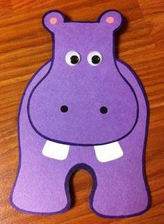 Hippo Craft. Hippopotamus. Storytime. Preschool. Library. Home school. Every Child Ready to Read. ECRR.