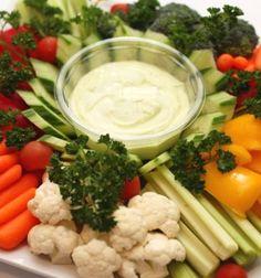 Receta de Crudités Vegetariano Francés