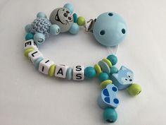 Schnullerketten - Schnullerkette Maus - ein Designerstück von Monas-Babyecke bei DaWanda