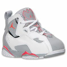 Fly high in a new basketball shoe that resembles the Air Jordan VII. The Boys' Toddler Jordan True Flight Basketball Shoes features an outsole with herringbone traction and Zoom Air insoles for added cushioning. The colorway features an all black upper including plenty of contrast stitching and patent leather accents. FEATURES:  UPPER: Nubuck and synthetic MIDSOLE: Rubber OUTSOLE: Rubber with herringbone traction IMPORTED