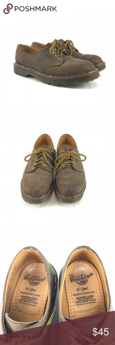 Dr. Marten's brown leather shoes Pre-owned Dr. Marten's brown leather shoes.  Men's size 8.  See pictures for condition. Dr. Martens Shoes