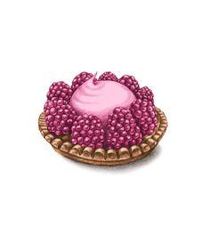Pastry, Raspberry Mousse  Linn Tordestam Illustration & Grafisk form -