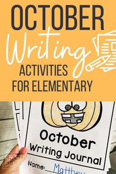Creative writing activities for elementary students specifically for the month of October, but could be used all fall long! Simple to plan, fun to do and easy to differentiate! Writing Mini Lessons, Teaching Writing, Writing Tips, Back To School Teacher, Going Back To School, Reading Comprehension Activities, Writing Activities, Mentor Texts, Read Aloud