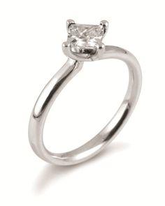 Twist princess cut diamond engagement ring by www.diamondsandrings.co.uk