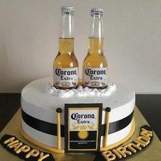 Birthday Cupcakes For Boyfriend Father Ideas 40th Birthday Cakes For Men, Birthday Cupcakes, Man Birthday, Birthday Ideas, Surprise Birthday, Birthday Wishes, Happy Birthday, Corona Cake, Corona Beer