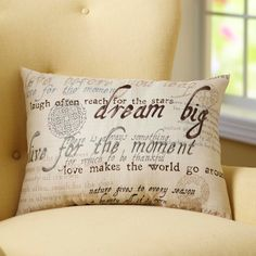 Update the look and design of your home with the BHG Sentiments Oblong Pillow.