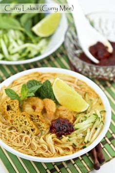Curry Laksa (Curry Mee) is a delicious spicy curried noodle soup with a variety of toppings. This is my family's version found mainly in the Klang Valley and its surrounding areas.   Food • Culture • Stories at http://MalaysianChineseKitchen.com