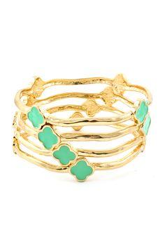 Adalyn Bracelet Set in Kelly Mint