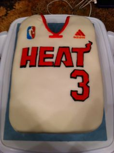 Birthday Miami Heat Dwayne Wade Jersey Cake — Basketball / NBA