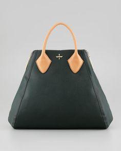 Yves Medium Satchel Bag, Evergreen by Pour la Victoire at Neiman Marcus.