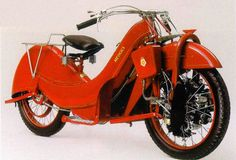 The Megola motorcycle was produced in Munich in the 1920's. Some 2000 were built, but only 10 fully working examples are still in existence, one of which is in the Guggenheim Museum in New York: