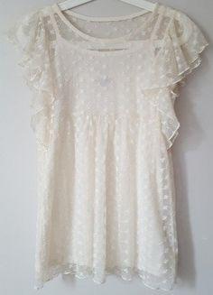 d375201879c4 Kremowa elegancka koszulka dziewczęca Zara