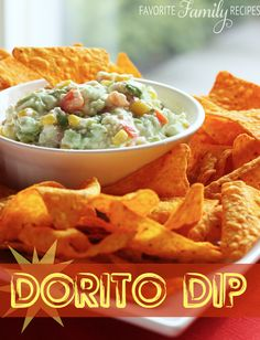 """Favorite Family Recipes: This Dorito Dip is FOR Doritos, not FROM Doritos -- just to clear up any confusion! This dip is so good, you may never want to eat a """"naked"""" Dorito again!"""