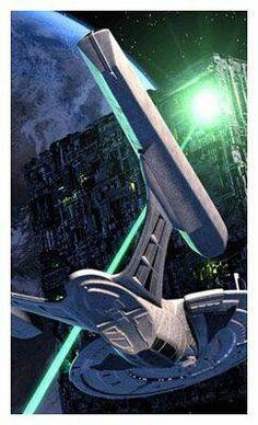 Enterprise E and the Borg.