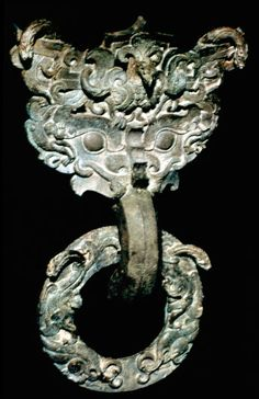 Bronze Door-Knocker (remnant of palace), Warring States Period, Eastern Zhou Dynasty, 5th-3rd century BC.