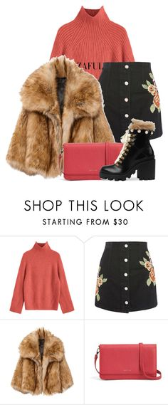 """With Coral Bag"" by busrashin ❤ liked on Polyvore featuring Topshop, Matt & Nat and Gucci"