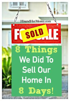 Have you ever wondered how some homes sell in just a matter of days and others may take years? Price is one major factor that plays a part in the success rates of homes selling quicker than others, but not entirely. We sold our home in just 8 days after it was listed! Find out how you can set your home above your competition.