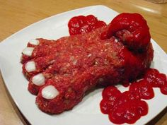 Severed Foot Meatloaf | The Ultimate Collection Of Creepy, Gross And Ghoulish Halloween Recipes