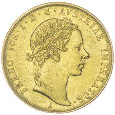 DUKAT 1854 A Kaiserreich Franz Joseph I. 1848 - 1916
