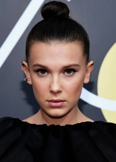Millie Bobby Brown at the 2018 Golden Globes