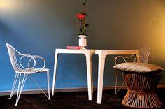 Mauser Tripod Wire Chair  Armlehner Midcentury Modern
