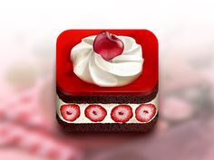 iOS APP ICON Cake