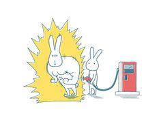 マッスルうさぎはエネルギー充填-給油機で補給するうさぎ Simple Illustration, Levis, Art Drawings, Bunny, Doodles, Wallpaper, Painting, Character, Animals