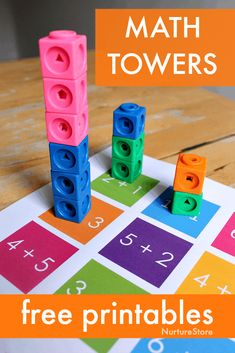 Math towers – unit block addition activity printables – NurtureStore Math towers – unit block addition activity printables – NurtureStore,Au-pair Mathe visualisiert Related posts:Busy Board Toddler Toy First Learning Toy Waldorf Toys Learning Toys. Teaching Addition, Addition Activities, Math Activities For Kids, Math For Kids, Fun Math, Math Math, Educational Activities, Preschool Math Games, Number Activities