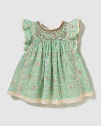 Bass 10 baby girls' printed smock dress