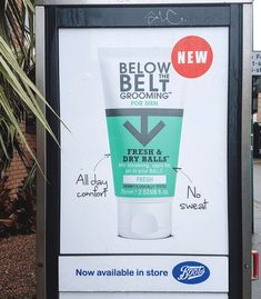 Below The Belt Male Grooming Advert