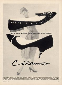 Ciranno (Shoes) 1957Jewels on her Toes