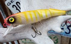 Handpainted Custom Jointed Sinking Crank bait by CandTCustomLures, $14.00
