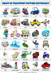 means of transportation worksheet   free esl printable