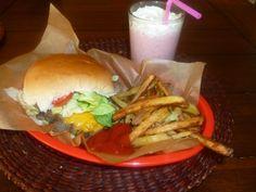 Burger, fries and a shake